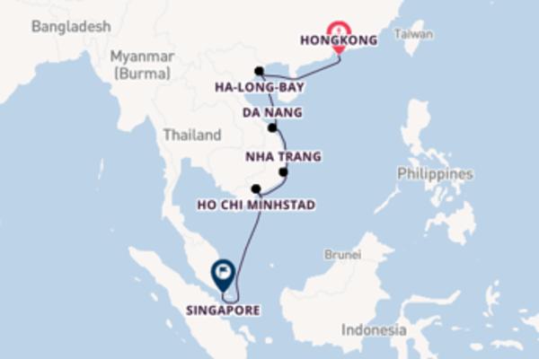 Geniet van een 11-daagse cruise naar Singapore