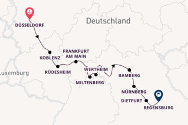 10-tägige Kreuzfahrt ab Düsseldorf