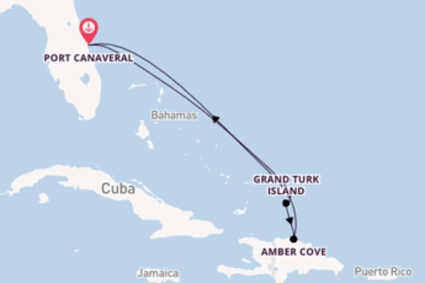 Vibrant expedition from Port Canaveral with Carnival Cruise Lines