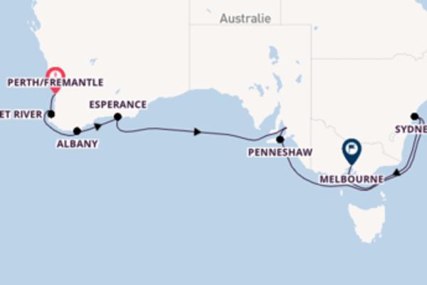 Croisière de 15 jours vers Melbourne avec Azamara Club Cruises