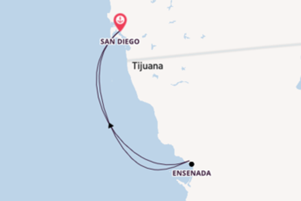 4 day cruise on board the Carnival Miracle from San Diego, California