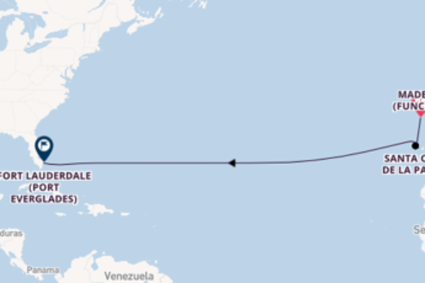 Sailing to Fort Lauderdale (Port Everglades) from Madeira (Funchal)