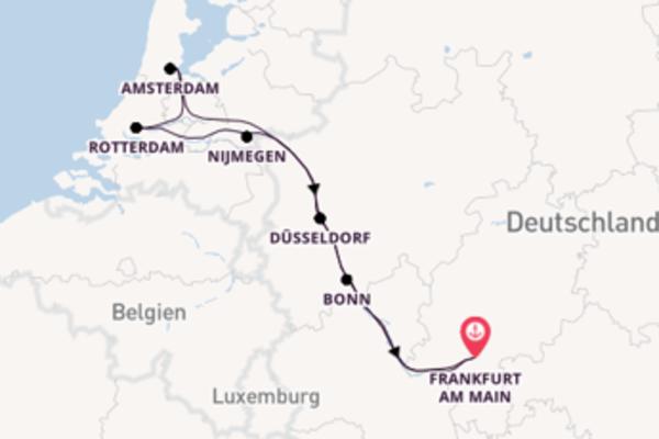 Von Frankfurt am Main über Amsterdam in 8 Tagen
