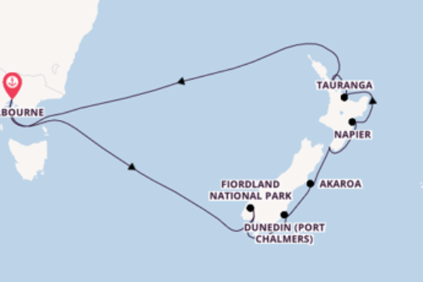 14 day sail from Melbourne