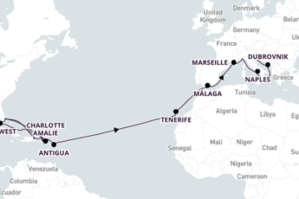 Fort Lauderdale to Venice 31-Day Journey