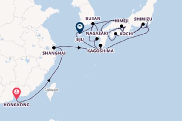 29-daagse droomcruise vanuit Hongkong