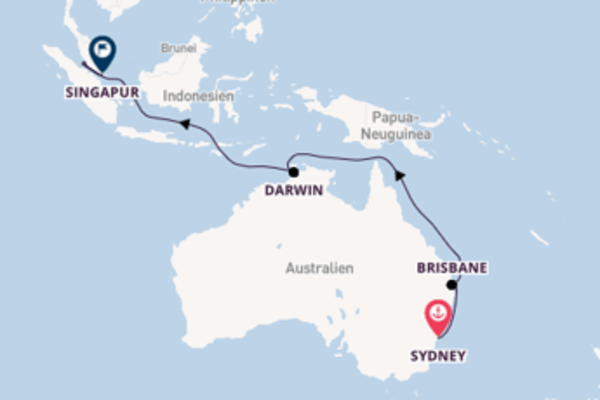 Einmalige Reise mit der Ovation of the Seas