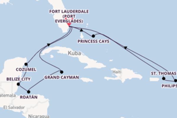 15-tägige Kreuzfahrt bis Fort Lauderdale