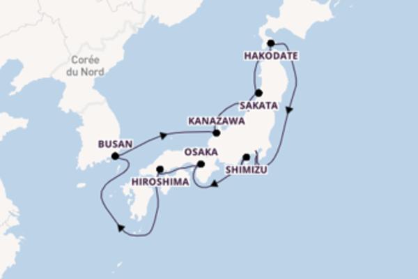 Passionante virée de 15 jours depuis Yokohama