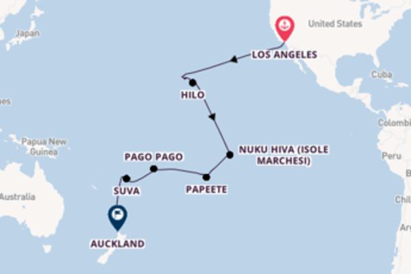 30 giorni verso Auckland passando per Hilo