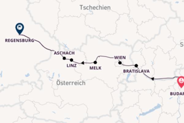 Klassische Donaukreuzfahrt