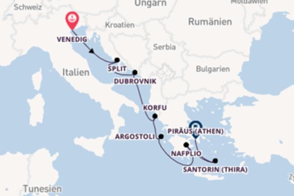 In 8 Tagen nach Piräus (Athen) über Argostoli