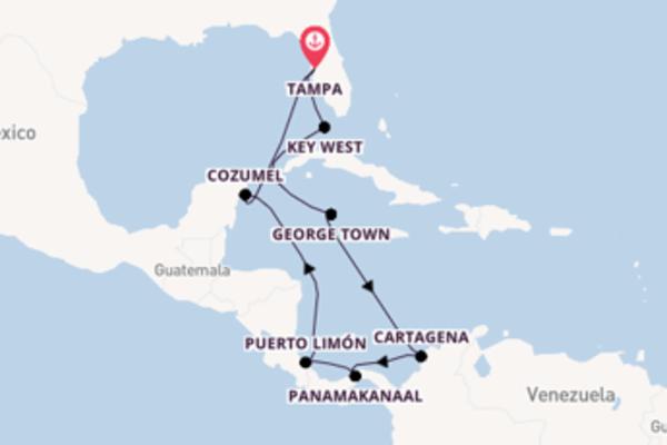 Cruise naar Tampa via Key West
