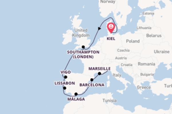 Verken Kiel, Barcelona en Genua
