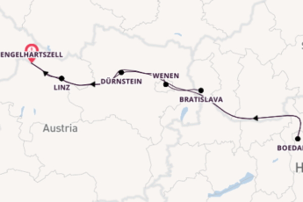 8daagse reis naar Engelhartszell