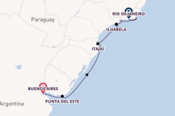Cruising to Rio de Janeiro from Buenos Aires