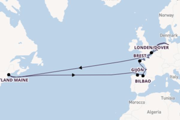 15daagse cruise met de AIDAaura vanuit Hamburg