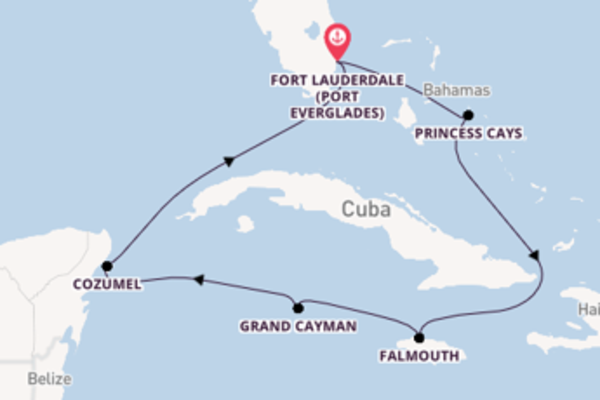 Journey from Fort Lauderdale (Port Everglades) with the Caribbean Princess