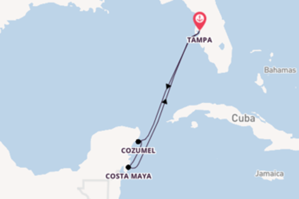 Sailing from Tampa, Florida via Cozumel