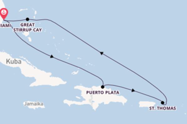 Miami und Puerto Plata genießen