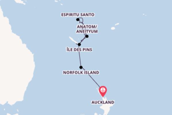 In 16 Tagen nach Noumea, Neukaledonien über