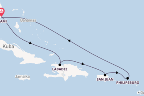 Kreuzfahrt mit der Jewel of the Seas nach Miami