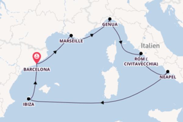 Wunderschöne Kreuzfahrt über Genua nach Barcelona