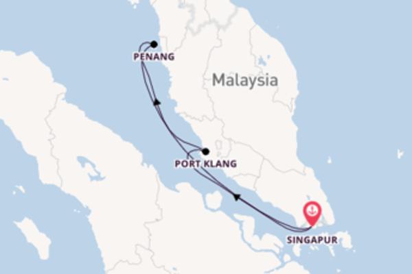 Erleben Sie 5 Tage Port Klang und Singapur