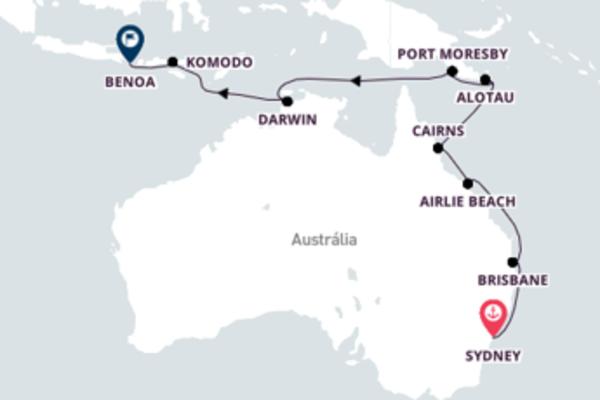 Aventura de 19 dias a bordo do Seven Seas Explorer