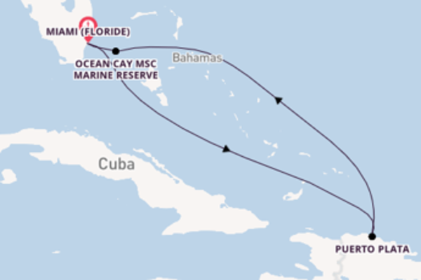 6 jours pour découvrir Puerto Plata à bord du beateau MSC Divina