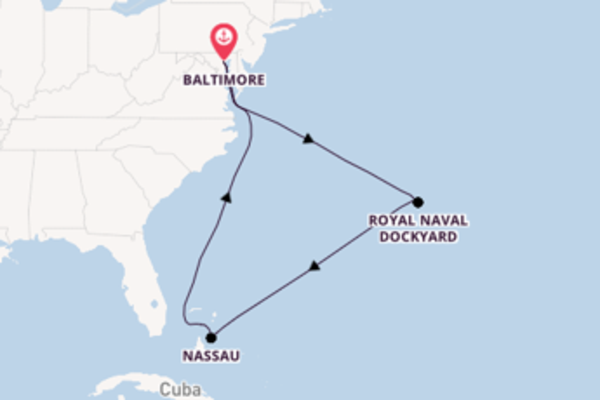 Sailing from Baltimore with the Enchantment of the Seas