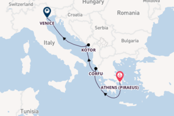 Journey with MSC Cruises from Athens (Piraeus)