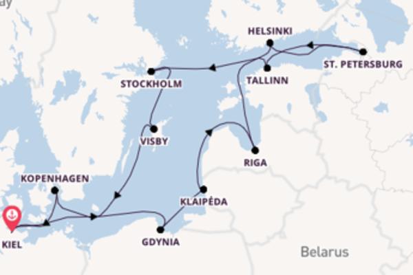 Cruise in 15 dagen naar Kiel met TUI Cruises