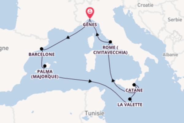 Élégante croisière de 8 jours avec Costa Croisières