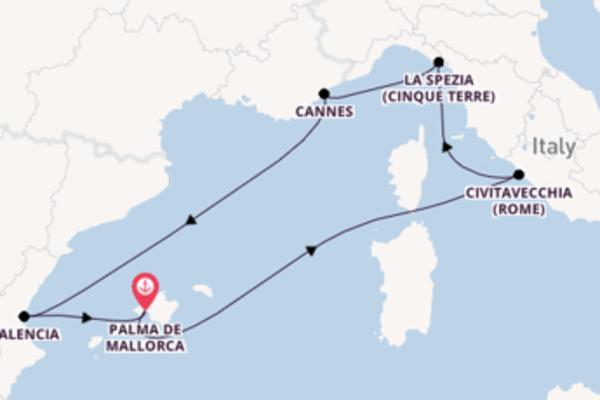 8-daagse reis naar Palma de Mallorca