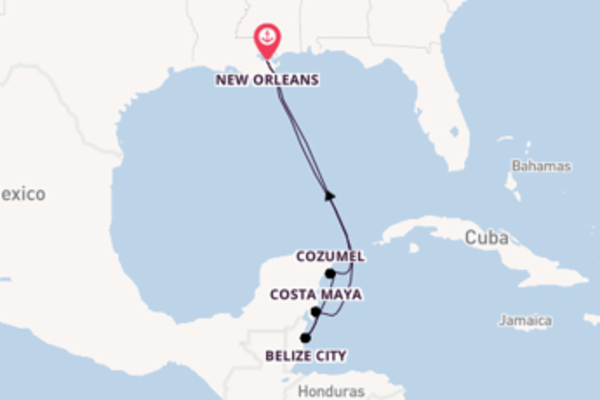 Sailing from New Orleans via Cozumel