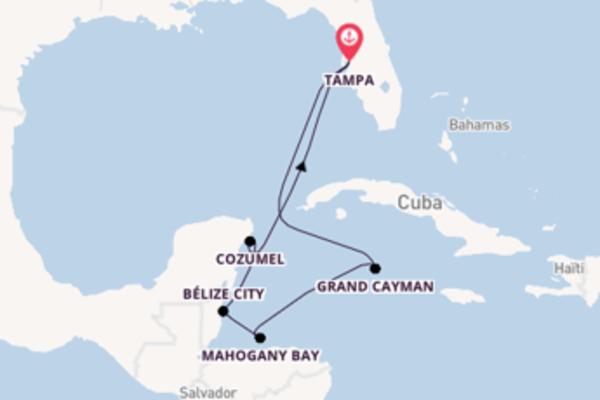 Inoubliable croisière vers Tampa via Grand Cayman