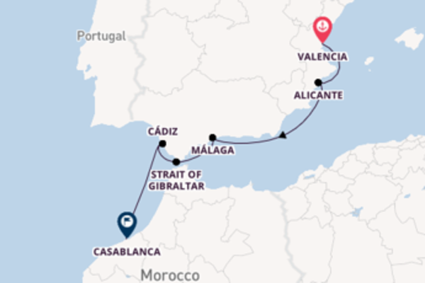 Picturesque sail from Valencia with Sea Cloud Cruises