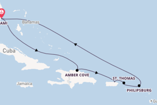 10 day cruise with the Carnival Magic to Miami