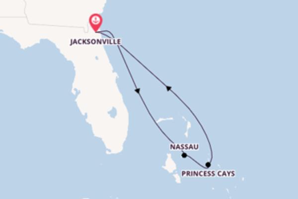 6-daagse cruise met de Carnival Ecstasy vanuit Jacksonville