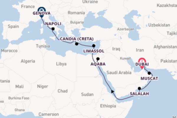 Passa per Napoli salpando da Dubai