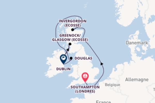 Dundee (Ecosse) et une charmante croisière depuis Southampton (Londres)