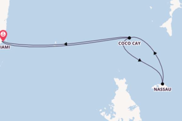 Beleef het romantische Coco Cay