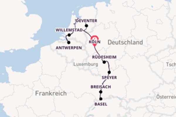 15 Tage Rhein Kreuzfahrt