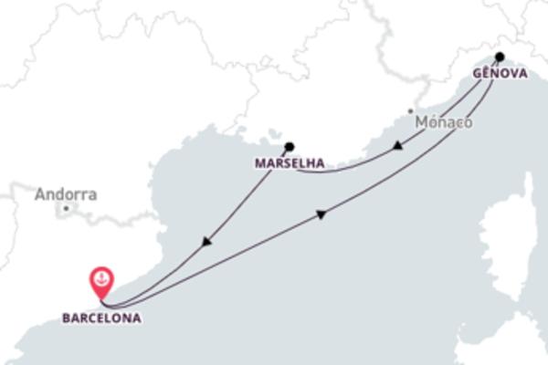 Inesquecível passeio até Barcelona