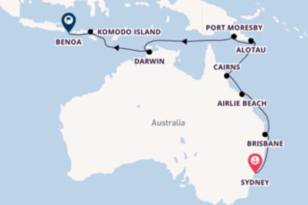 Cruising from Sydney via Komodo