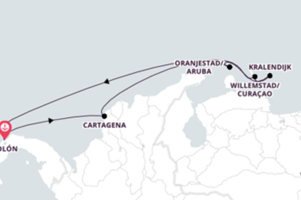 7 noites no Caribe a bordo do Monarch