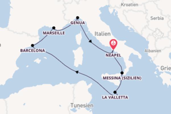 Zauberhafte Reise ab Neapel