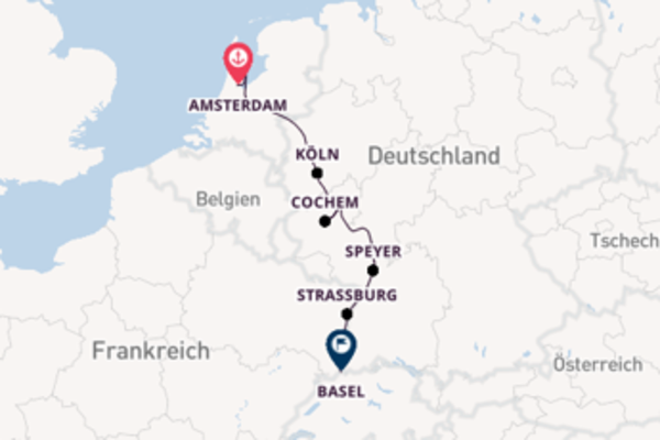 Klassische Rheinkreuzfahrt