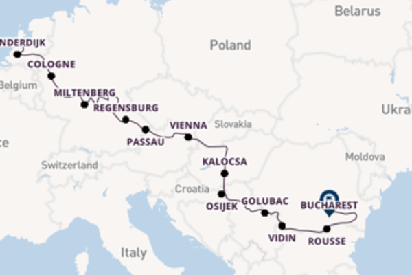 Cruising with Viking River Cruises from Amsterdam to Bucharest